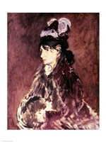 Portrait of Berthe Morisot - side view by Edouard Manet - various sizes, FulcrumGallery.com brand