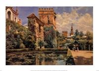 """Jardines del Alcazar de Sevilla by Manuel Garcia Y Rodriguez - 34"""" x 24"""""""