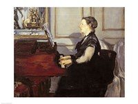 Madame Manet at the Piano, 1868 Fine Art Print