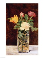 Roses and Tulips in a Vase, 1883 Fine Art Print