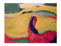 Horse in a landscape, 1910 by Franz Marc, 1910 - various sizes