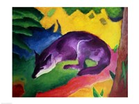 Blue Fox, 1911 Fine Art Print