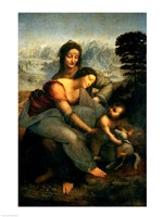 Virgin and Child with St. Anne, c.1510 Fine Art Print