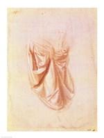 Drapery study by Leonardo Da Vinci - various sizes - $16.49