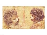 Study of a child's head Fine Art Print