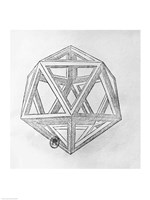 Icosahedron Fine Art Print