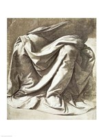 Drapery study for a Seated Figure by Leonardo Da Vinci - various sizes