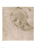 Head of a Young Woman or Head of the Virgin Fine Art Print