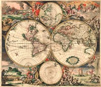 World Map 1689 Fine Art Print