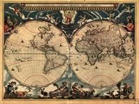 "World Map 1664 - 32"" x 24"""