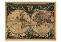 World Map 1664 Fine Art Print