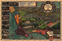 "Los Angeles 1871 - 24"" x 16"""