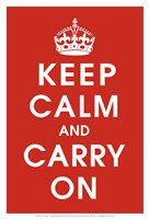 Keep Calm (Red) Fine Art Print