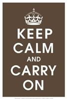 Keep Calm (chocolate) Fine Art Print