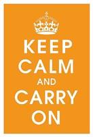 Keep Calm (orange) Fine Art Print