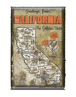 Greetings from California Fine Art Print