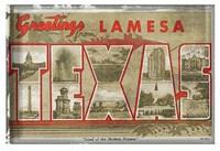 """Texas Greetings - 19"""" x 13"""""""