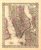 Plan of New York City, 1867 Fine Art Print
