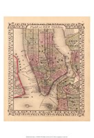 Plan of New York City, 1867 Fine Art Print
