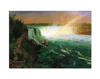 """Niagara Falls by Albert Bierstadt - 14"""" x 11"""""""