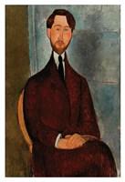 """Portrait of Leopold Zborowski by Amedeo Modigliani - 13"""" x 19"""", FulcrumGallery.com brand"""