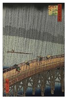 "Sudden Shower by Ando Hiroshige - 13"" x 19"""