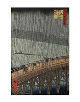 "Sudden Shower by Ando Hiroshige - 11"" x 14"""