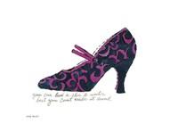A la Recherche du Shoe Perdu, 1955 (blue & pink shoe) Fine Art Print