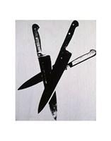 "Knives-82 (three black), 1981 by Andy Warhol, 1981 - 11"" x 14"", FulcrumGallery.com brand"