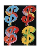 "$4 (blue, red, orange, yellow), 1982 by Andy Warhol, 1982 - 11"" x 14"""