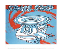 """Space Ship, 1983 by Andy Warhol, 1983 - 14"""" x 11"""""""