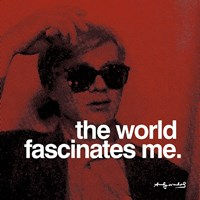 """The world fascinates me by Andy Warhol - 12"""" x 12"""", FulcrumGallery.com brand"""