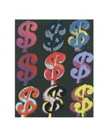 "$9 (on black), 1982 by Andy Warhol, 1982 - 11"" x 14"""