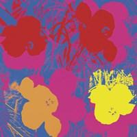 Flowers, 1970 (red, yellow, orange on blue) Fine Art Print