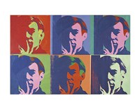 "A Set of Six Self-Portraits, 1967 by Andy Warhol, 1967 - 14"" x 11"""