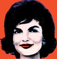 Jackie, 1964 (on red) Fine Art Print
