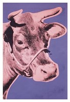 """Cow (pink & purple), 1976 by Andy Warhol, 1976 - 13"""" x 19"""", FulcrumGallery.com brand"""