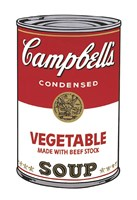 Campbell's Soup I:  Vegetable, 1968 Framed Print