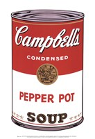 Campbell's Soup I:  Pepper Pot, 1968 Fine Art Print