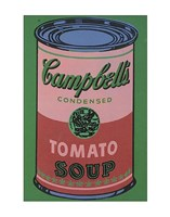 Colored Campbell's Soup Can, 1965 (red & green) Fine Art Print