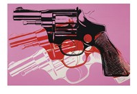 Gun, c. 1981-82  (black, white, red on pink) Fine Art Print