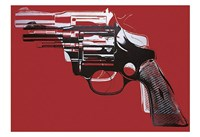 Guns, c. 1981-82 (white and black on red) Fine Art Print