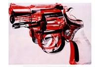 Gun, c. 1981-82 (black and red on white) Fine Art Print