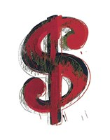 Dollar Sign, 1981 (red) Fine Art Print