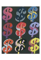 "$9 (on black), 1982 by Andy Warhol, 1982 - 13"" x 19"""