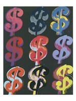 "$9 (on black), 1982 by Andy Warhol, 1982 - 24"" x 32"""