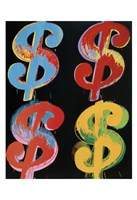 "$4 (blue, red, orange, yellow), 1982 by Andy Warhol, 1982 - 13"" x 19"""