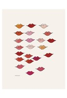 Stamped Lips, c. 1959 Fine Art Print