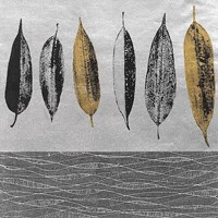 """Row of Leaves by Anna Becker - 12"""" x 12"""" - $12.99"""