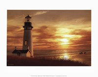 Lighthouse at Sunset Fine Art Print
